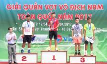 Giải vô địch nam toàn quốc 2017: Minh Tuấn lên ngôi vô địch