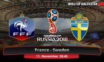 Pháp vs Thụy Điển, 02h45 ngày 12/10: Gà trống thị uy