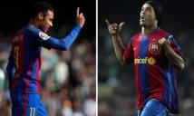 Neymar chính thức vượt mặt tiền bối 'Rô vẩu' ở Barca