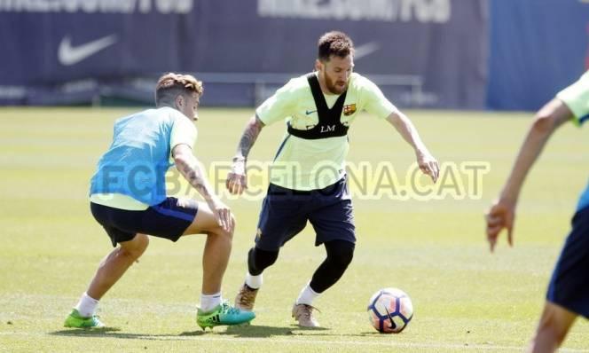 CHÙM ẢNH: Dàn sao Barca tập luyện cho trận cuối cùng của La Liga