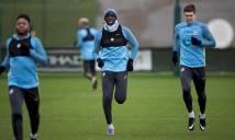 Đội mưa rét tập luyện, Man City sẵn sàng chiến với Everton