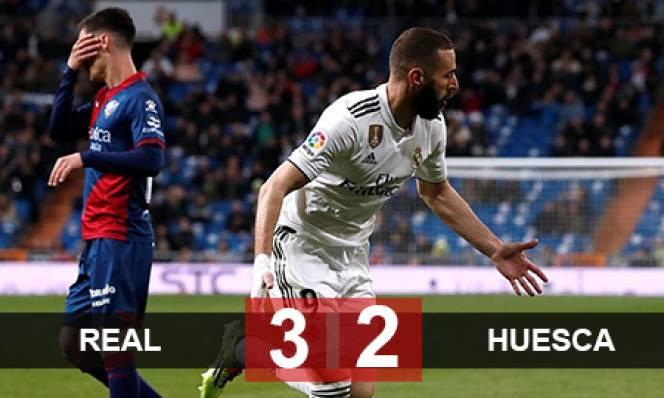 Real 3-2 Huesca: Benzema ghi bàn muộn, Real thắng trận thứ 2 cùng HLV Zidane