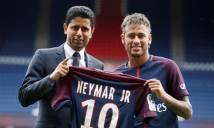 Toàn đội PSG ăn mừng chức vô địch, Neymar