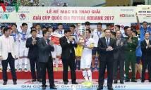 Thái Sơn Nam bảo vệ thành công chức vô địch cúp Quốc gia HDBank 2017