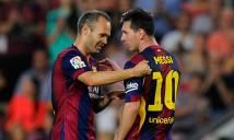 Messi bất ngờ tiến cử 'siêu tiền vệ' thay thế Iniesta