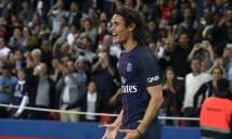 Sát thủ Cavani lập cú đúp, PSG đại thắng Guingamp