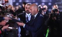 Zidane hụt danh hiệu HLV xuất sắc nhất 2016