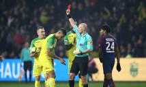 HY HỮU: Ngáng chân cầu thủ Nantes vì tưởng bị xô ngã, trọng tài bị đình chỉ