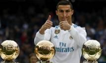 Ronaldo 'chung mâm' Federer, Nadal trong đề cử giải VĐV thể thao xuất sắc nhất 2017
