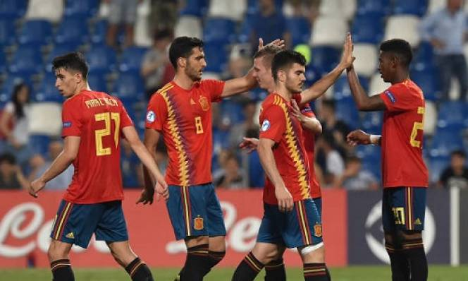 U21 Tây Ban Nha thẳng tiến vào chung kết sau khi đánh bại U21 Pháp