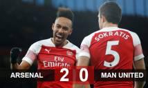 Arsenal 2-0 M.U: Solskjaer đứt mạch bất bại ở Ngoại hạng Anh