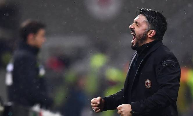 Gattuso 'gào thét' điên dại với thắng lợi đầu tiên cùng AC Milan