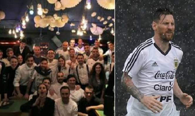 Toàn đội Argentina được Messi mời đi ăn nhà hàng