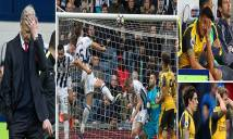 Những điểm nhấn sau trận thua tủi hổ của Arsenal trước West Brom