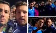 Thua tan nát trước Argentina, cầu thủ đội bạn vẫn tranh thủ chụp hình với siêu sao Messi vui như đi hội