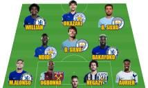 Đội hình tiêu biểu vòng 17 Premier League: Sự thống trị của sắc xanh