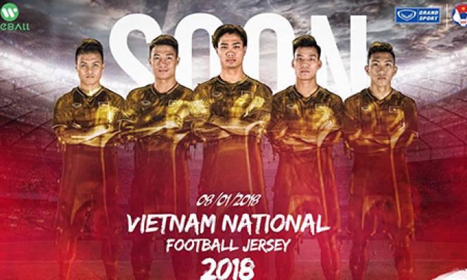 Lộ mẫu áo đấu mới cực chất của ĐT Việt Nam