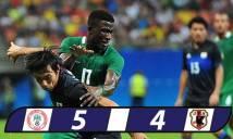 U23 Nigeria thắng sít sao U23 Nhật Bản ở trận cầu mưa bàn thắng