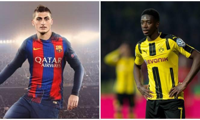 Chuyển nhượng Barca: Thúc đẩy thương vụ Verratti, từ bỏ Dembele