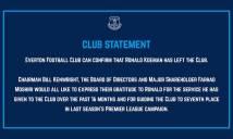 CHÍNH THỨC: Everton sa thải Ronald Koeman