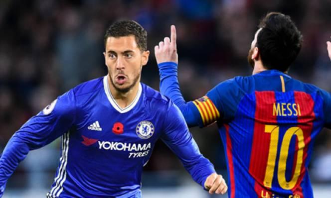Eden Hazard đứng ở đâu khi so sánh với Messi?
