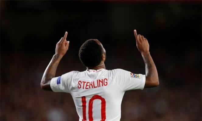 Sau hơn 1.000 ngày, Sterling mới lại ghi bàn cho ĐT Anh