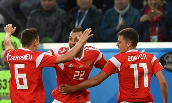 Thắng đậm Ai Cập, chủ nhà Nga 99% có vé vào vòng 1/8 World Cup 2018