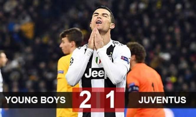 Young Boys 2-1 Juventus: 'Lão bà' gục ngã