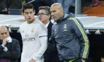HLV Zidane xác nhận tương lai James Rodriguez
