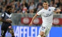 Ibra lập công, PSG vẫn không thể đánh bại Bordeaux