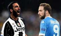 Serie A trước vòng 11: Higuain tái ngộ Napoli