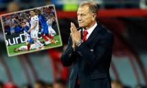 HLV Albania tẩn trợ lý sau trận thua Pháp