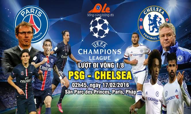 PSG vs Chelsea, 02h45 ngày 17/02: Nụ cười không vui