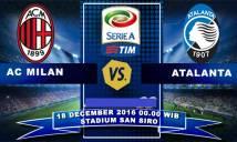 Milan vs Atalanta, 00h00 ngày 18/12: Quyết tâm phá dớp