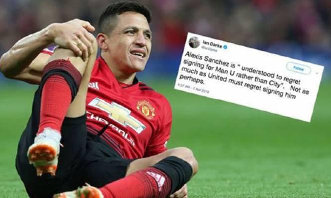 Sanchez hối hận vì từ chối Man City để tới M.U