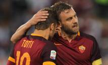 Điểm tin chiều 01/06: De Rossi muốn tiếp bước Totti, HLV Hoàng Anh Tuấn không lên ĐTQG