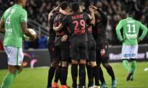 Hạ Saint-Etienne, Nice đòi lại ngôi đầu bảng từ tay Monaco
