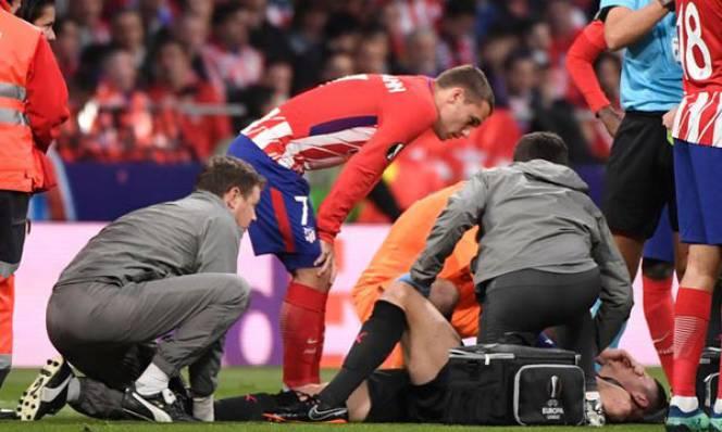 Griezmann lo lắng khi đối thủ bị chấn thương