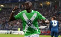 Sao Wolfsburg gặp chấn thương kinh hoàng