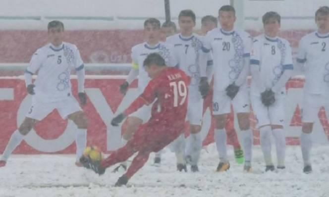 Siêu phẩm 'Cầu vồng trong tuyết' giúp Quang Hải 'giật' giải Bàn thắng đẹp nhất U23 châu Á
