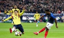 """KẾT QUẢ Pháp - Colombia: """"Mãnh hổ"""" tỏa sáng, đại tiệc 5 bàn"""