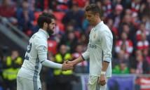 Cristiano Ronaldo tuyên bố Real chơi tốt hơn khi không có Isco