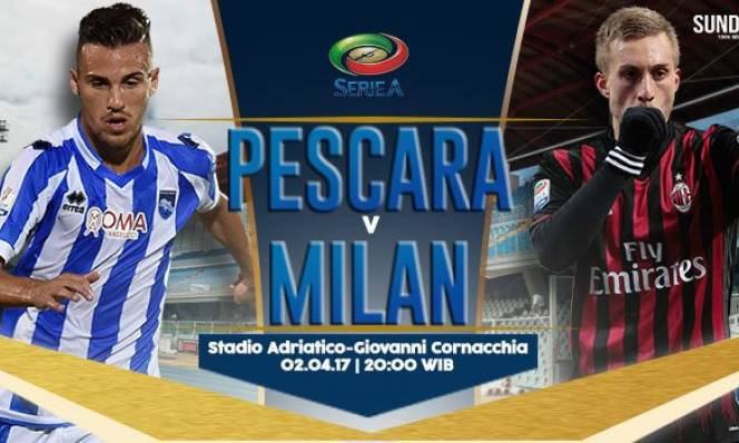 Pescara vs Milan, 20h00 ngày 02/4: Chiến thắng trong tầm tay