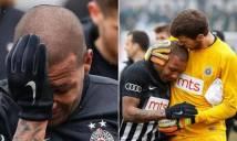 Cầu thủ nước mắt giàn giụa rời sân vì bị CĐV miệt thị