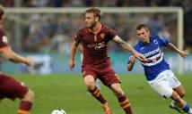 SOI SỐ BÀN THẮNG Sampdoria vs Roma, 2h45 ngày 25/1 (Đá bù vòng 3 Serie A 2017-18)