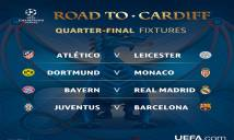 Tứ kết Champions League: Bayern đụng Real, Barca gặp Juventus