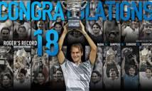 BXH ATP: Federer trở lại top 10, Serena lấy lại ngôi đầu