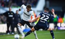 Ngược dòng đánh bại Leeds Utd, Derby County chạm 1 tay vào Premier League
