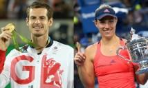 Murray và Kerber nhận giải những nhà vô địch thế giới