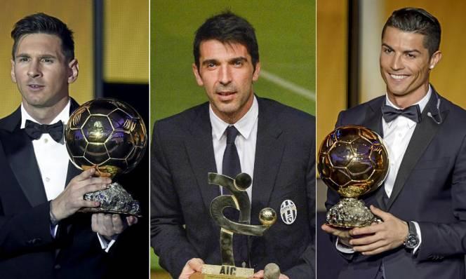 Buffon, Messi và Ronaldo tranh giải cầu thủ hay nhất năm của UEFA